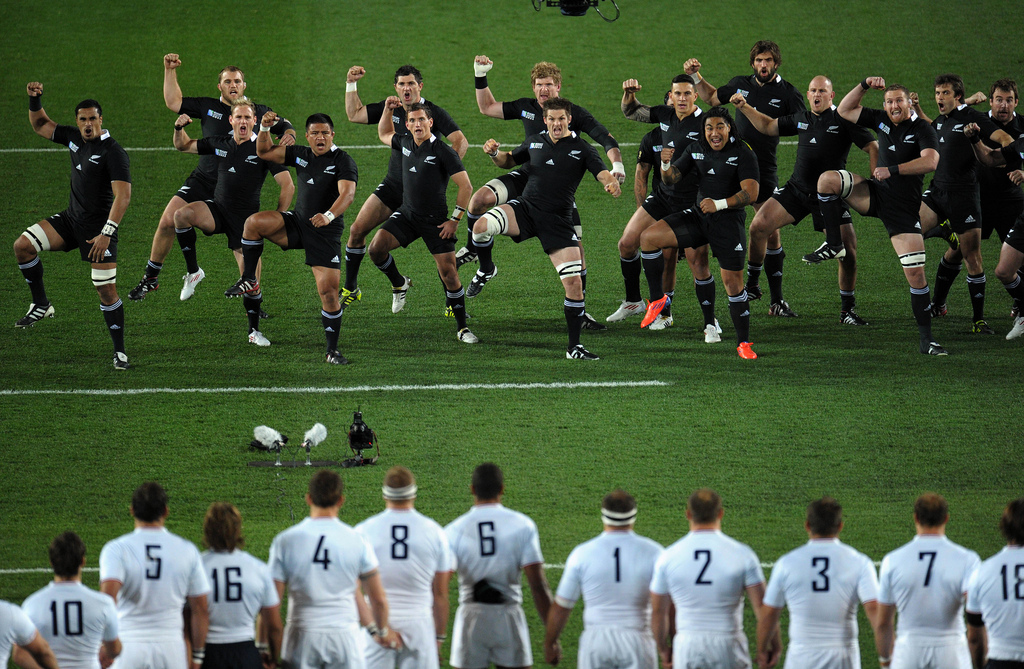 Rugby World Cup 2011 Final - The All Blacks perform the haka